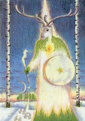 """The Ancestor"": Greenwood Tarot by Chesca Potter"