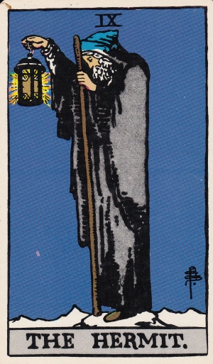 Albano-Waite Tarot: The Hermit